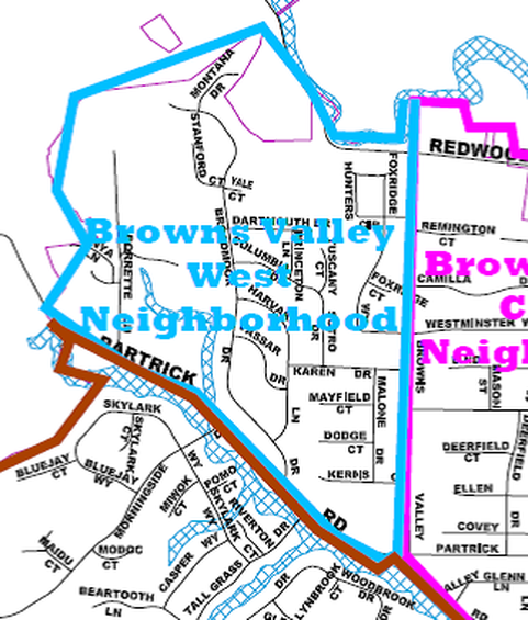 Browns Valley West Neighborhood Map