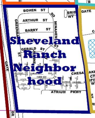 Sheveland Ranch Neighborhood Map