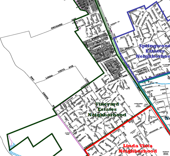 Vineyard Estates Neighborhood Map