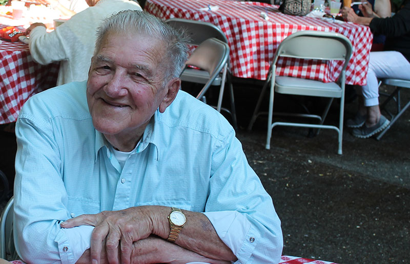 Picture of a senior at a picnic