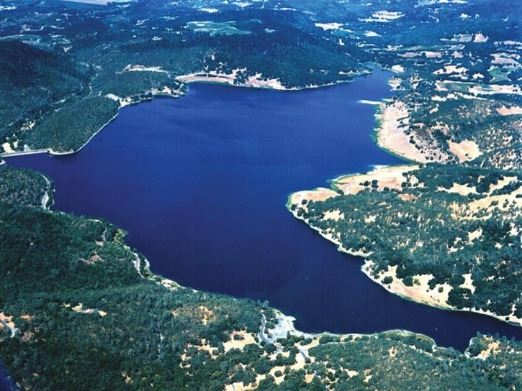 Lake Hennessey Aerial View