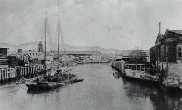 Old Photo of Napa River With Boats